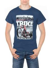 11113-2 футболка мужская, синяя