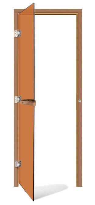 Двери: Дверь SAWO 730-3SGD-L 7/19 (бронза, левая, без порога) двери дверь sawo 741 3sgd l 3 7 19 бронза левая без порога кедр прямая ручка с металлической вставкой