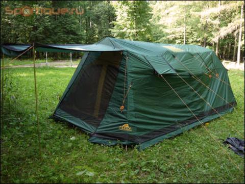 палатка кемпинговая Alexika VICTORIA 5 LUXE green, 600x300x200