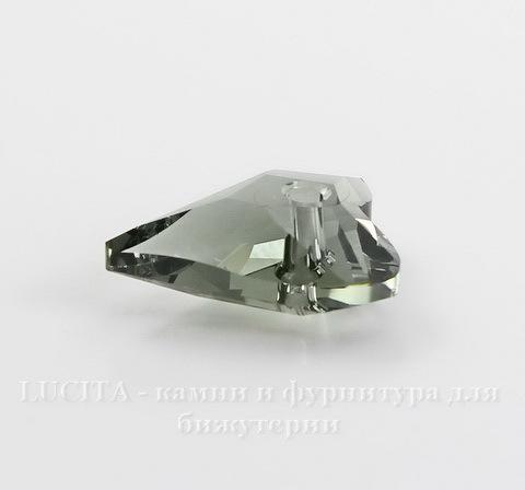 6240 Подвеска Сваровски Сердечко Wild Heart Black Diamond (12 мм) (3)