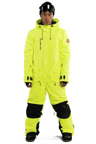 Cool Zone SnowMen мужской сноубордический комбинезон салатовый