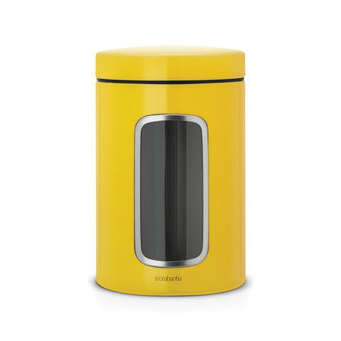 Контейнер для сыпучих продуктов с окном (1,4 л), Желтая маргаритка, арт. 486043 - фото 1