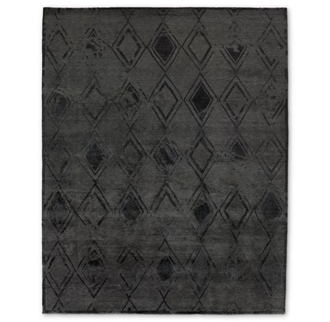 Borrado Rug - Graphite/Black