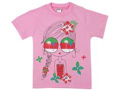 19065-14 футболка для девочек, розовая