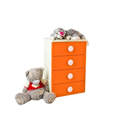 Комод  Детский. Цвет: оранжевый