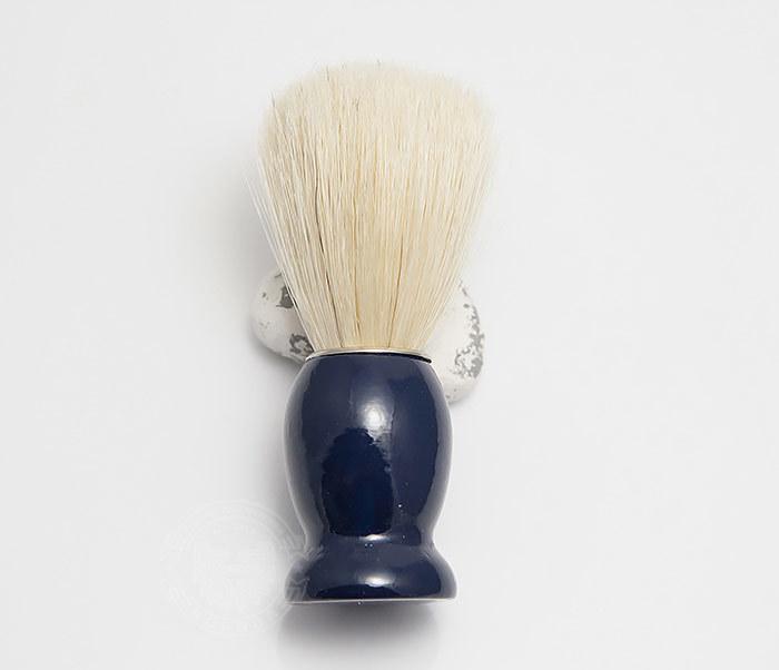 RAZ302-4 Помазок из щетины кабана с деревянной рукояткой синего цвета фото 02