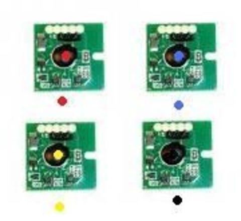 Комплект чипов OKI C9650, C9850. В комплекте 4 чипа CMYK, на каждый цвет свой чип. Примерный ресурс 1 чипа 15000 страниц А4 при 5% заполнении.