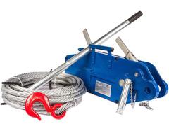 Лебедка рычажная тросовая TOR МТМ 800, 0,8 т, L=20м (стальной корпус)
