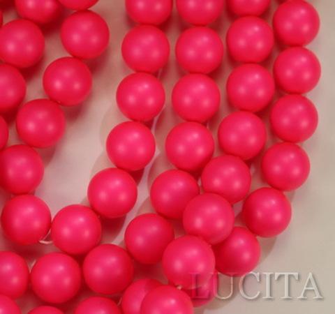 5810 Хрустальный жемчуг Сваровски Crystal Neon Pink круглый 10 мм