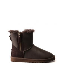 UGG Double Zip Metallic Chocolate