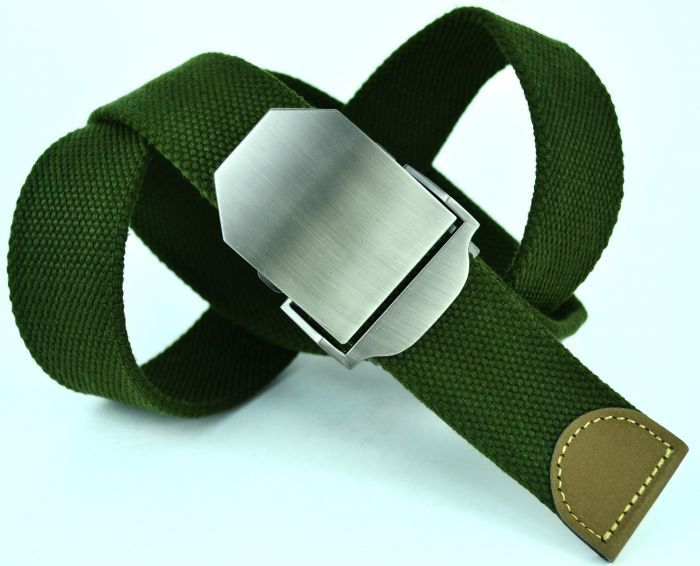 Ремень текстильный зелёный стропа 4 см 40Stropa-003
