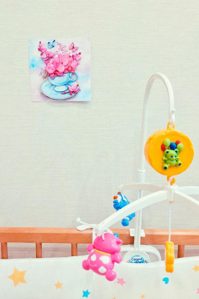 Папертоль Розовые орхидеи — пример готовой работы.