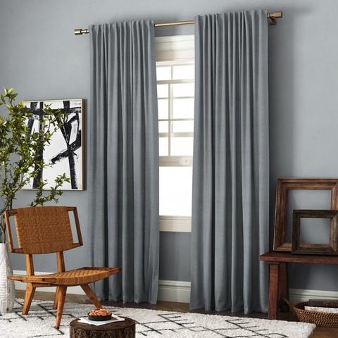Комплект штор с подхватами Джейн  серый