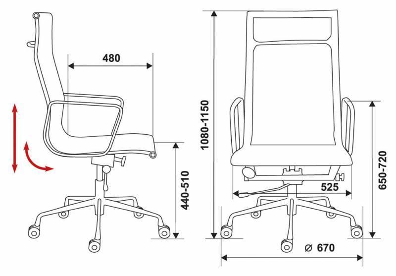 Кресло для руководителя CH-996-Low