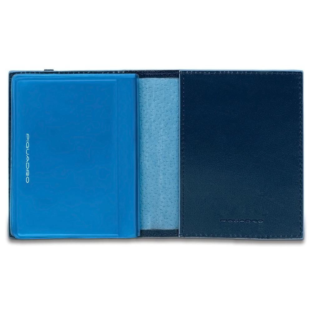 Чехол для кредитных/визитных карт Piquadro Blue Square, цвет синий, 8,8x10,5x1,2 см (PP1395B2/BLU2)
