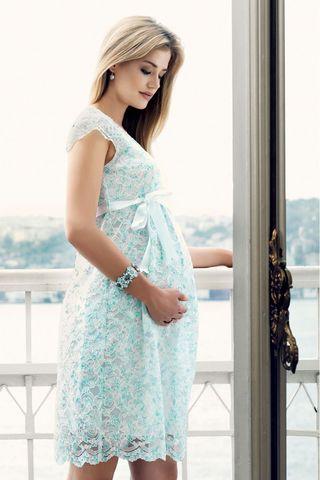 Платье 08475 голубой