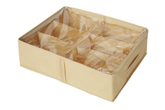 Кофр для обуви 53х40х15 см, 6 ячеек, Sand