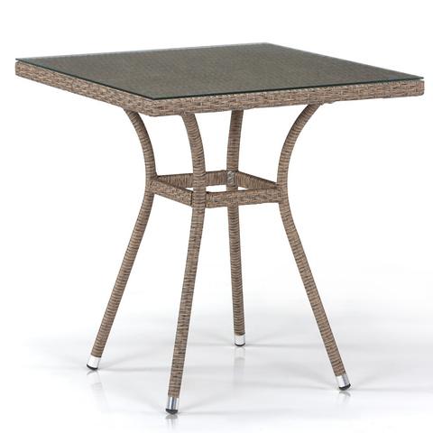 Плетеный стол T282BNT-W56-70x70 Light Brown