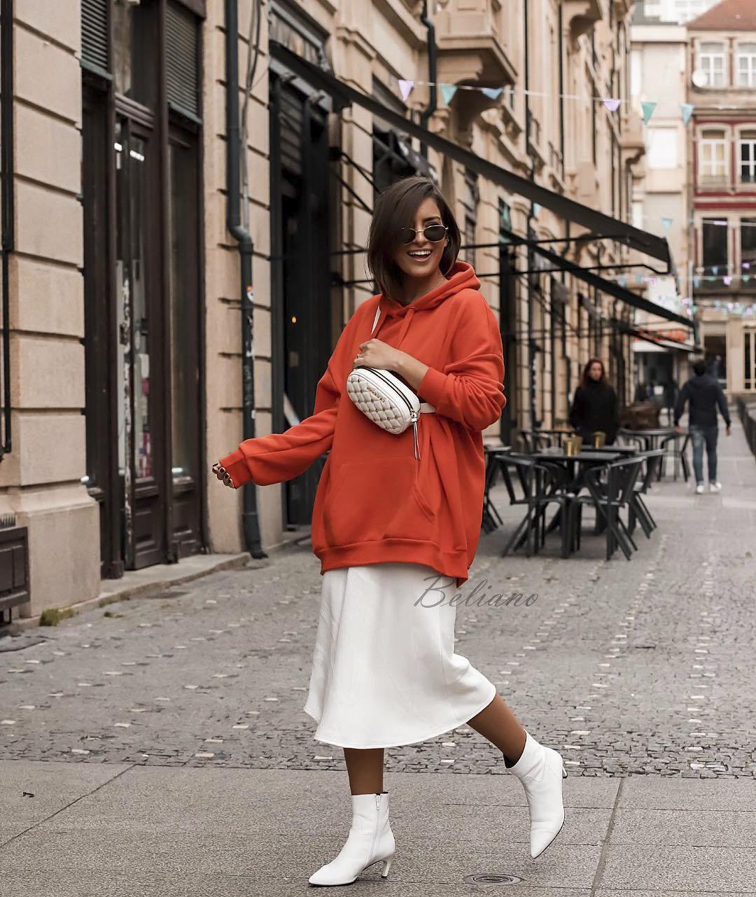 Шелковая двухслойная юбка белого цвета из натурального шелка