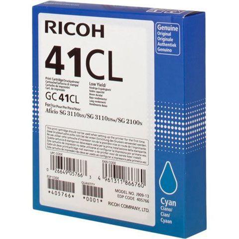 LE Картридж для гелевого принтера GC41CL голубой для Ricoh Aficio SG2100N/3110DN/DNw. Ресурс 600 стр (405766)