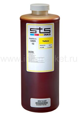 Водорастворимые чернила STS-INKS для Canon PFI-102/104/303/703, желтые (Yellow), 1000 мл
