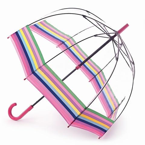 Зонт женский трость Fulton ColourBurstStripe (Цветные полоски)