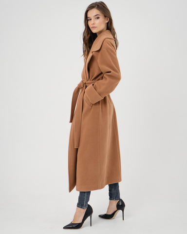 Пальто-халат camel