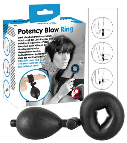 Эрекционное кольцо с возможностью накачивания воздуха Inflatable Cockring small