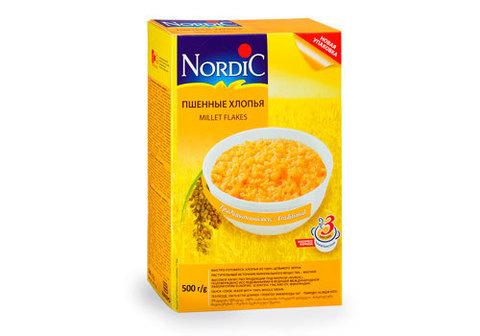 Хлопья Nordic пшенные, 350г
