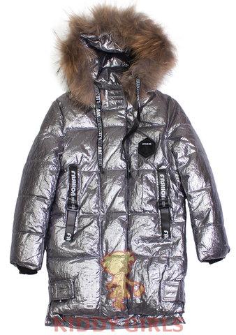 Удлиненная куртка для девочки Silver Bee 818