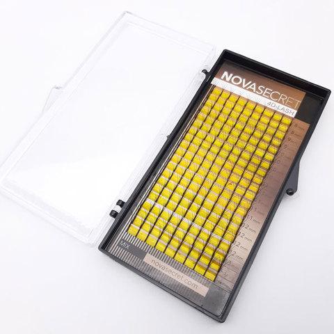 """Ресницы для наращивания NOVASEСRET ultimate черные, 4-D, изгиб """"CC mix"""""""