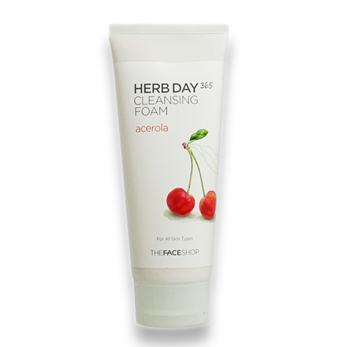 THE FACE SHOP Herb Day 365 Cleansing Foam Acerola, 170 ml