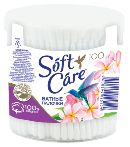 Romax Soft care Ватные палочки 100шт стакан круглый
