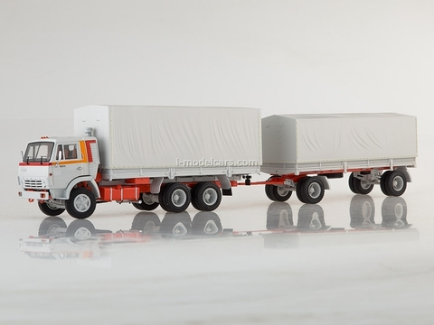 KAMAZ-53212 with trailer GKB-8350 white 1:43 Start Scale Models (SSM)