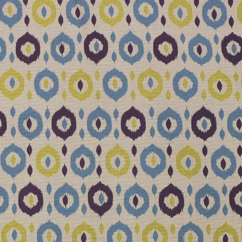 Портьерная хлопковая ткань в современном стиле Джуно синий