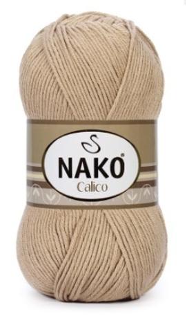 Пряжа Nako Calico бежевый 974