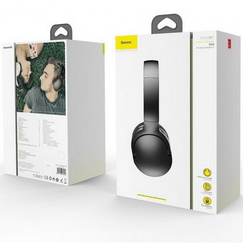 Наушники Bluetooth BASEUS Encok D02, (BT5.0, 25H) black