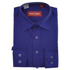 66-1 рубашка для мальчиков, синяя