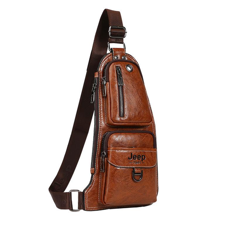 930daed3b35a Мужская сумка-рюкзак Jeep Buluo 1941 через плечо кожаная ✸ Купить в ...
