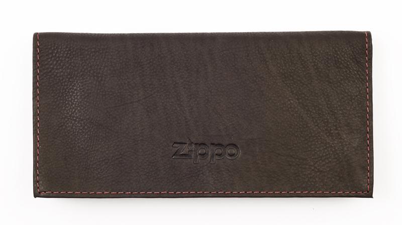 Кожаный тройной американский кисет 15,5х8,1,5 см для табака Zippo 2005130