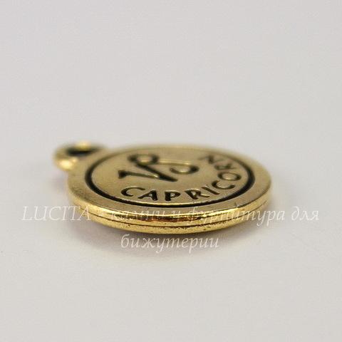 """Подвеска TierraCast знак зодиака """"Козерог"""" (цвет-античное золото) 19х15 мм"""
