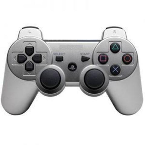 Sony PS3 Контроллер игровой беспроводной (серебристый, копия)