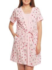 BB1-1  комплект женский (халат + майка), розовый