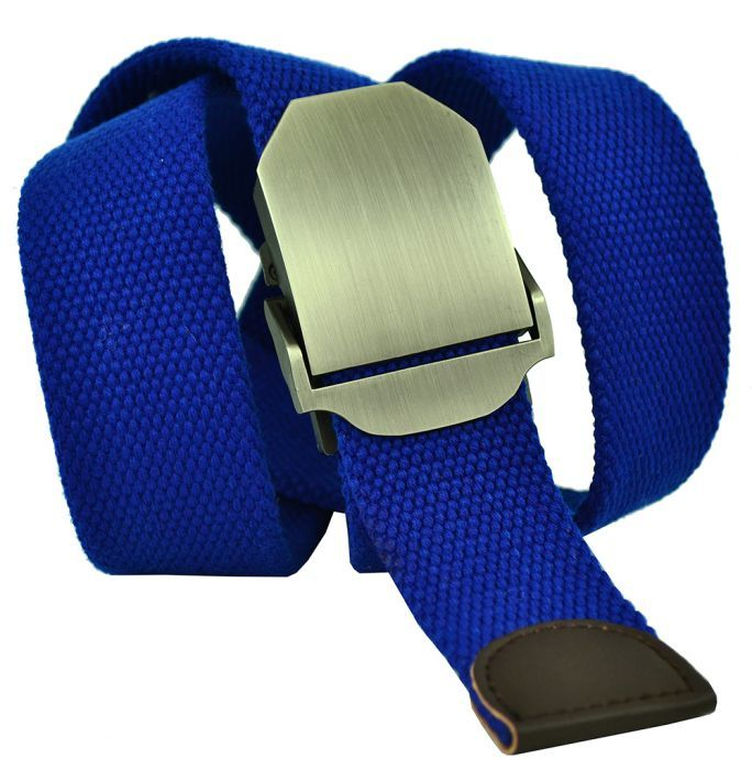 Ремень текстильный ярко-синий стропа 4 см 40Stropa-068