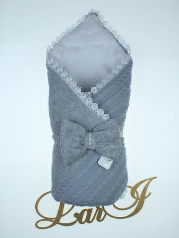 Зимний конверт на выписку Дуэт (серый)