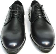 Мужские туфли дерби броги Ikos 3416-4 Dark Blue.