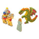 Рыцарь на коне, дракон, принцесса (Сказки дерева)