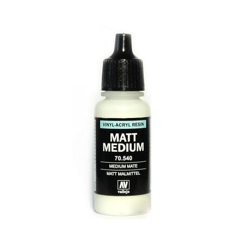 Вспомогальные жидкости 70540 Matt Medium Матовое Связующее, 17мл Acrylicos Vallejo 70540.jpg