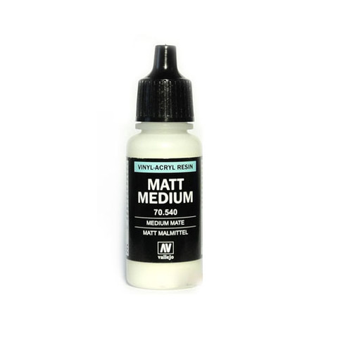 70540 Matt Medium Матовое Связующее, 17мл Acrylicos Vallejo