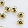 "Бусина овальная TierraCast ""Буква R"" 7х6х3 мм (цвет-античное золото)"
